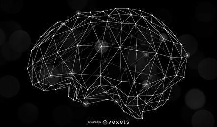 Menschliche Gehirn-Neuron-Illustration