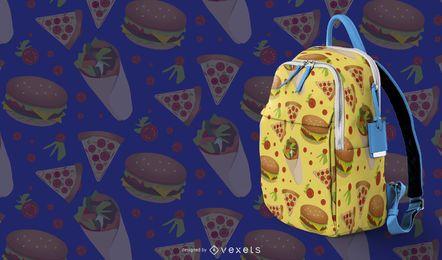Diseño de patrón de comida rápida
