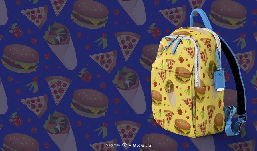 Fast-Food-Musterdesign