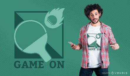 T-shirt De Ténis De Mesa