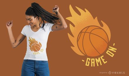 Juego de baloncesto en diseño de camiseta
