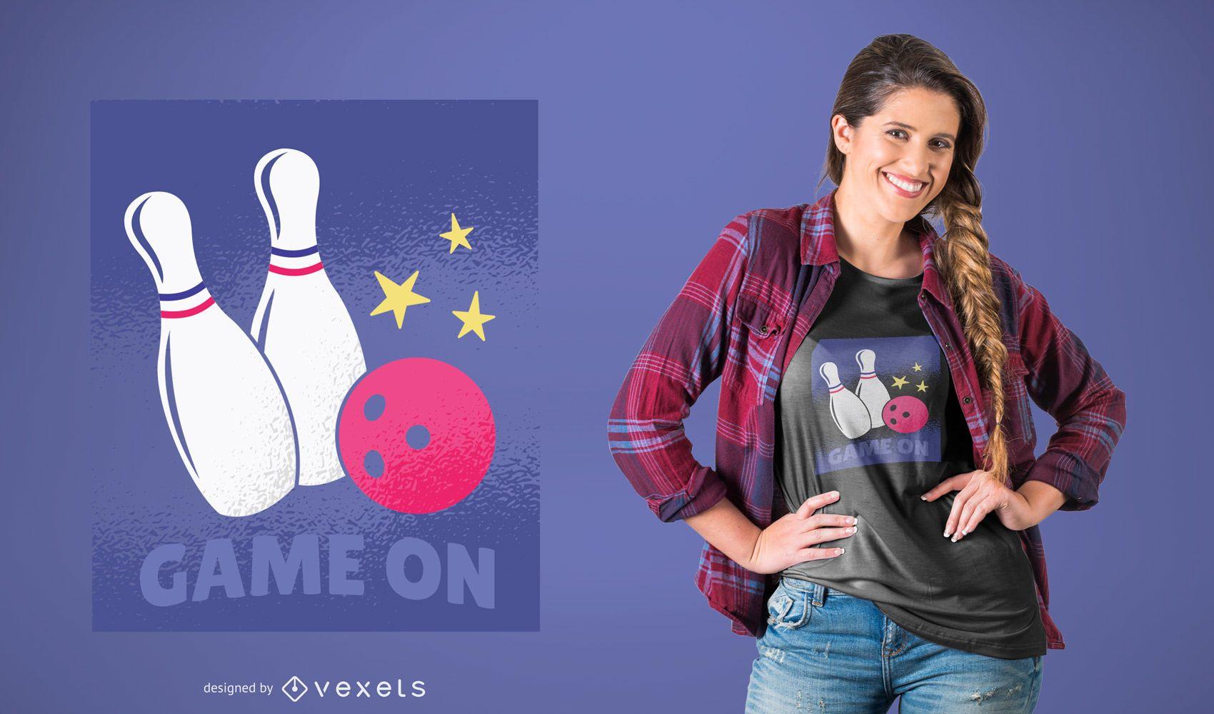 Bowling Game On T-shirt Design
