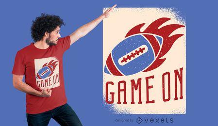 Design de t-shirt de bola de futebol americano