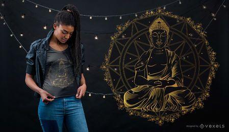 Diseño de camiseta de Buda Mandala