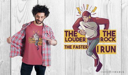 Führen Sie Zitat-T-Shirt Design aus