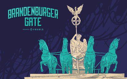Brandenburger Gate Ilustração Design