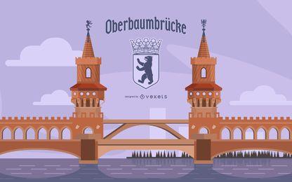 Ilustración de puente alemán