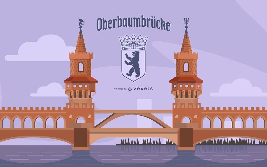 German Bridge Illustration