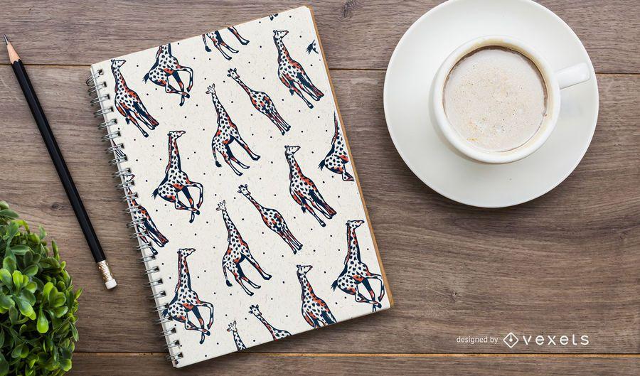 Duo Tone Giraffe Pattern