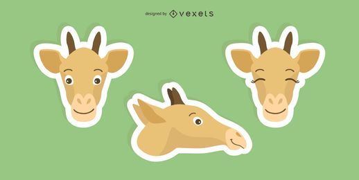 Giraffen-Aufkleber-Set
