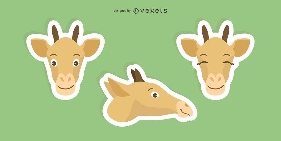 Giraffe Sticker Set