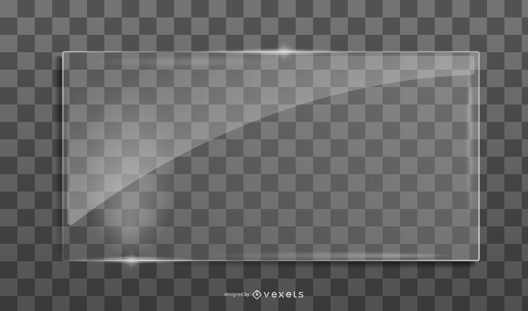 Diseño vectorial de vidrio
