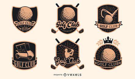 Coleção de distintivos de clube de golfe