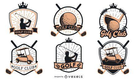 Design de logotipo de emblemas de golfe