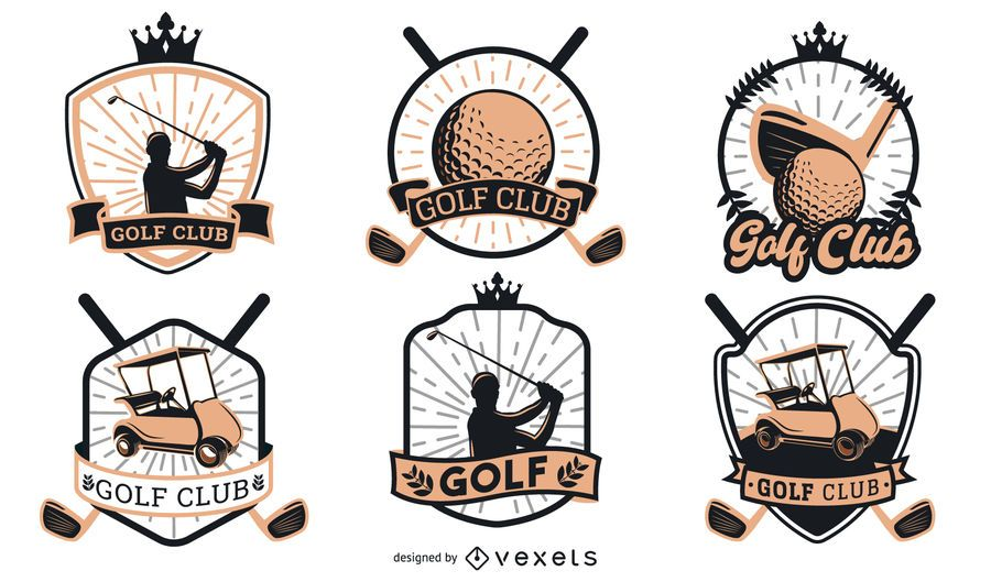 Golf Badges Logo Design