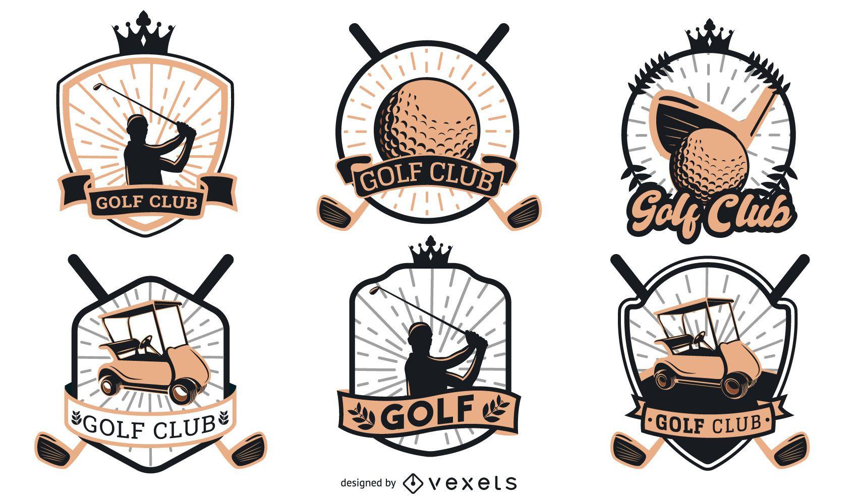 Golf Badges Logo Design