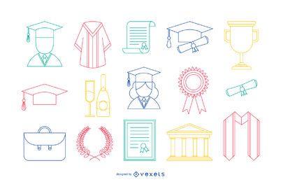 Graduation Stoke Icons