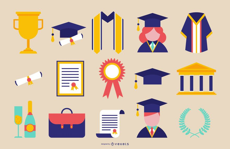 Graduation Icons Set