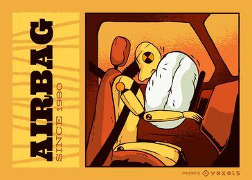Ilustração do aniversário do AirBag
