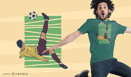 Bicycle Kick T-Shirt Design