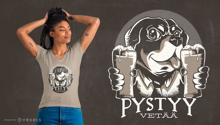 Diseño de camiseta alemana de Bottoms Up