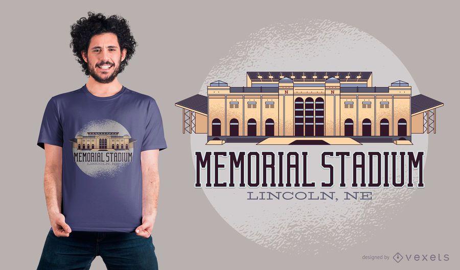 Projeto memorável do t-shirt do estádio
