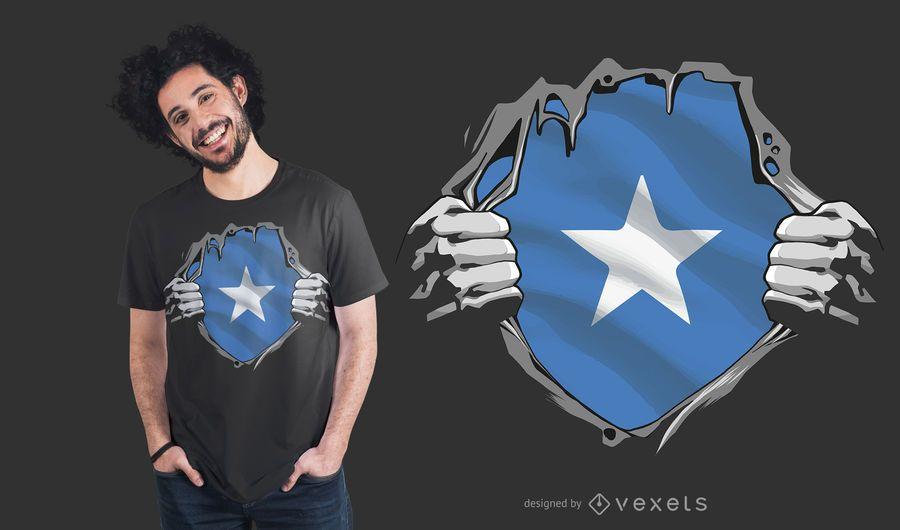 Diseño de camiseta de bandera de Somalia