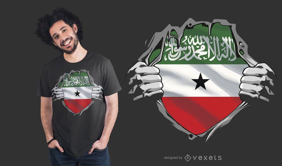 Diseño de camiseta con bandera de Somalilandia