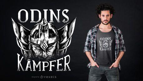 Diseño de camiseta de vikingo alemán