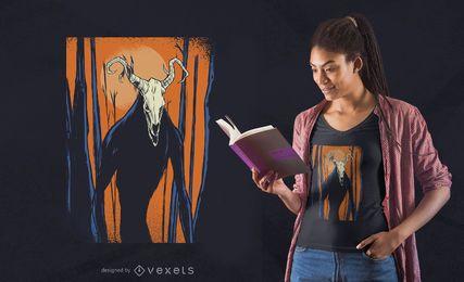Projeto do t-shirt de Wendigo