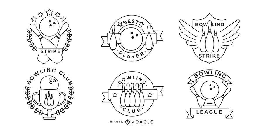 Pacote De Emblemas De Boliche