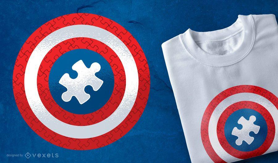 Diseño de camiseta Puzzle Shield