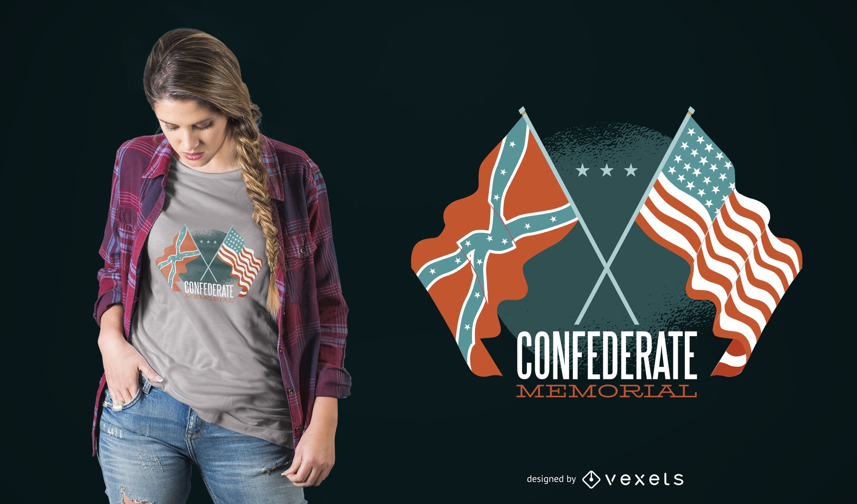 Confederate Memorial T-Shirt Design