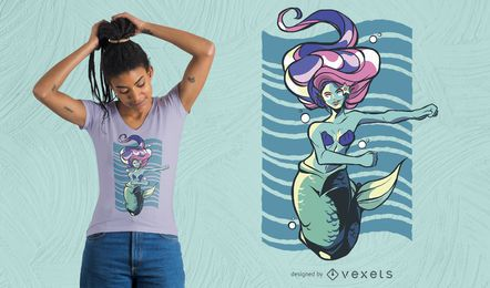 Dancing Siren T-Shirt Design