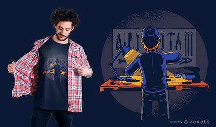 Projeto do t-shirt de HandyMan