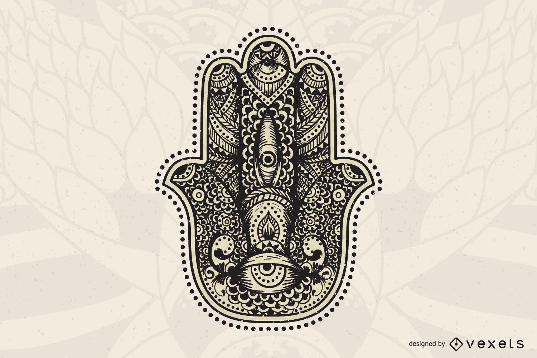 Hand Mandala Illustration