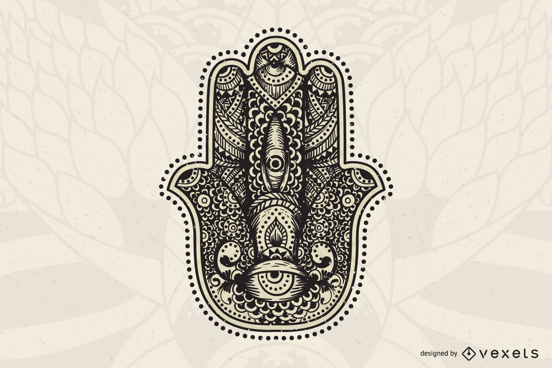 Ilustração de mandala de mão