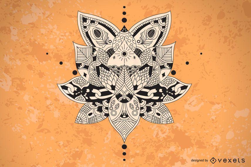 Ilustración de Lotus Mandala