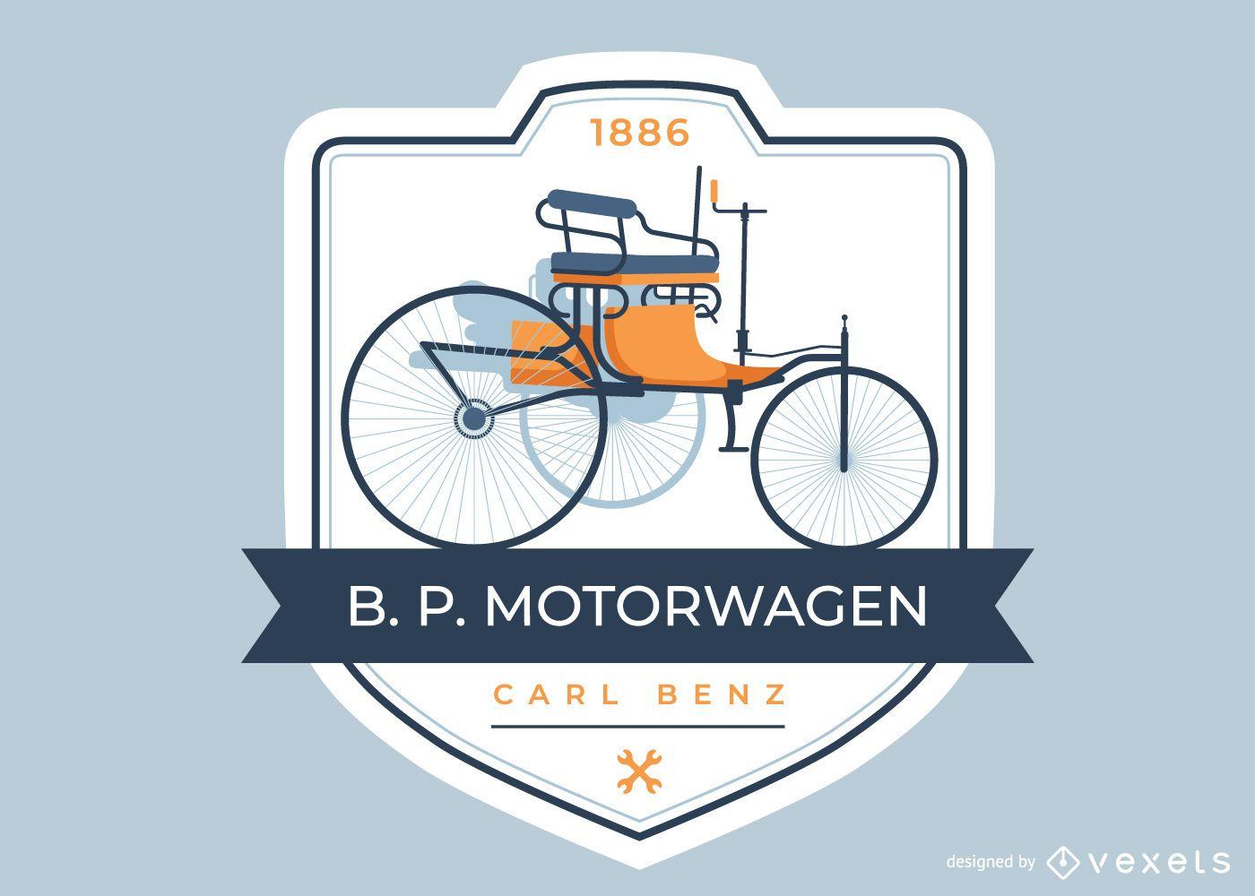 Primera insignia de automóvil