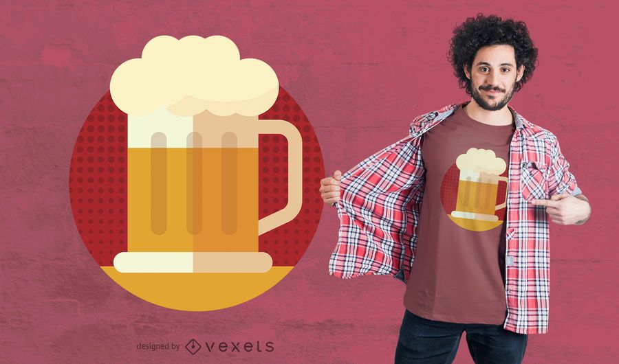 Cerveza Emoji camiseta de diseño