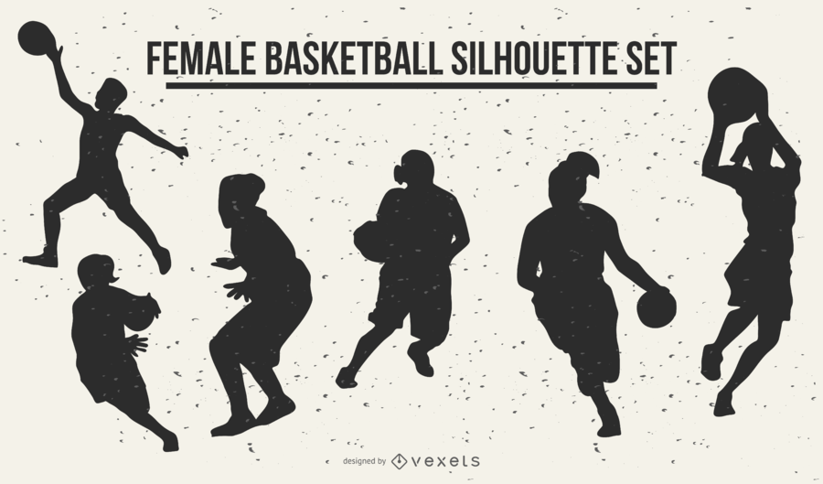 Weibliche Basketball-Silhouetten