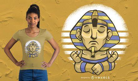 Projeto do t-shirt da ioga de Sphynx