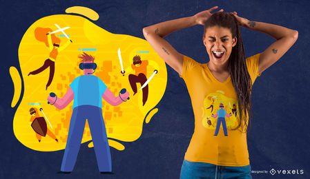 Virtuelle Freunde T-Shirt Design