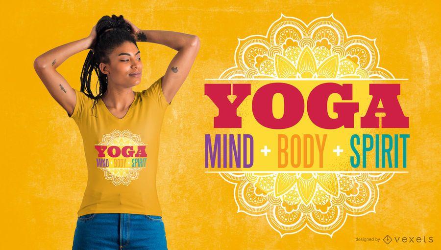 Diseño de camiseta de cita de yoga