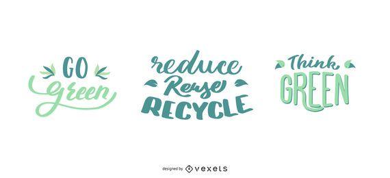 Gehen Natur-Briefgestaltung grün