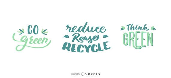 Go Green Nature Lettering Design