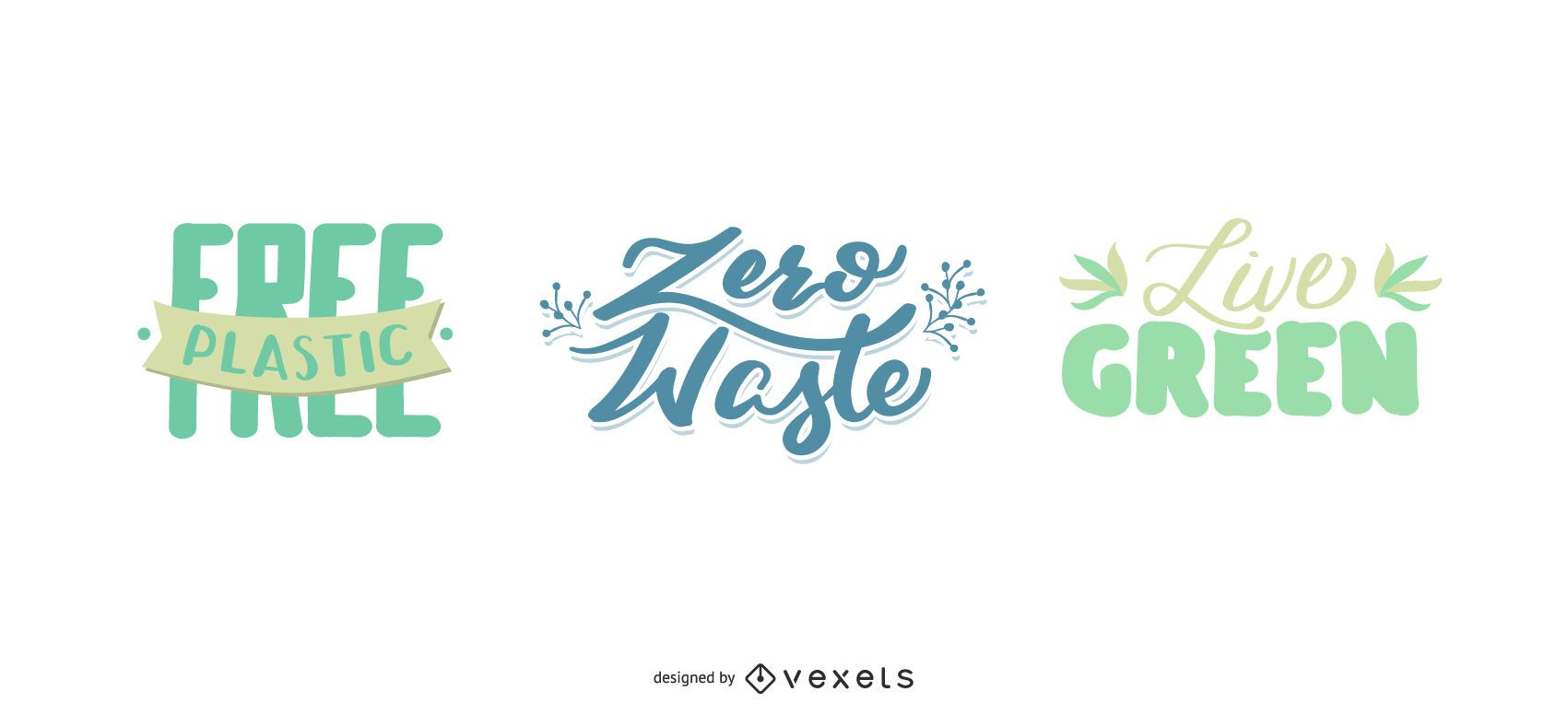 Nature Themed Lettering Set