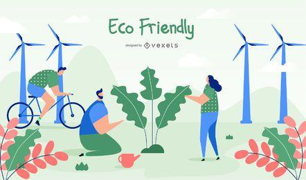 Ilustração Eco Friendly