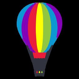 Etiqueta engomada del lgbt del arco iris del globo de aire