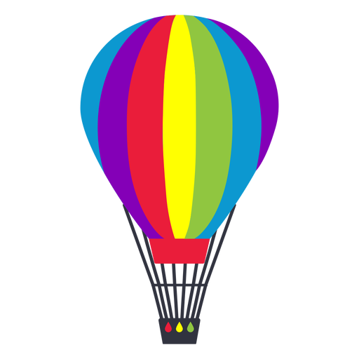 Air balloon rainbow lgbt sticker Transparent PNG